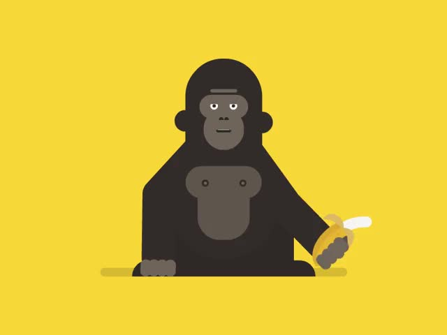 Watch and share Banana GIFs and Monkey GIFs by Framesequence on Gfycat