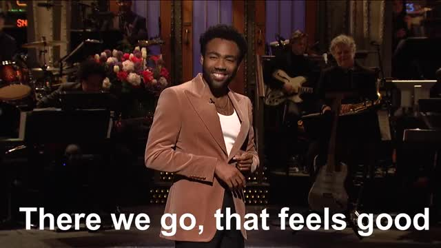 Watch this donald glover GIF by @dcmarvellegend on Gfycat. Discover more donald glover, donald glover monologue, heidi gardner, kenan thompson, kyle mooney, melissa villasenor, saturday night live, snl, snl episode 1744, snl season 43 GIFs on Gfycat