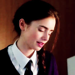 lily collins, Posted on Wednesday, April 30th (  ) Indexed:#lily collins#lcollinsedit#movie: love rosie#love rosie#gifs#rosie dunne#maker: anni GIFs
