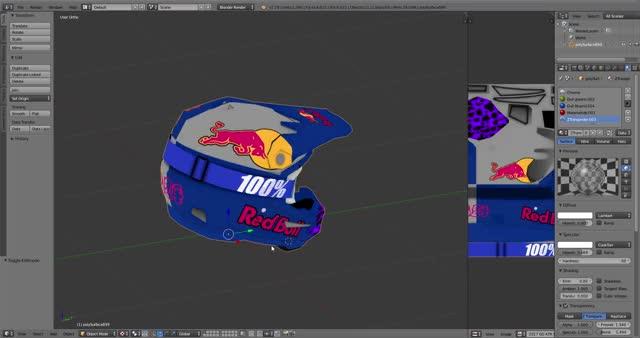 Watch and share Blender [C  Users User Desktop PSD's Helmets 6d 6D Helmet Placed For Export.blend] 1 27 2019 8 19 16 AM GIFs on Gfycat