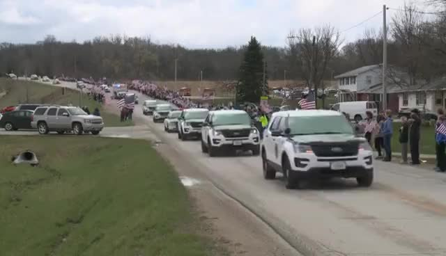 Watch and share Des Moines Police Officer Carlos Puente-Morales Funeral Procession GIFs on Gfycat