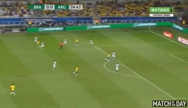 Watch and share Philippe Coutinho Amazing Goal - Brazil Vs Argentina 3-0 - World Cup 2018 10/11/2016 HD GIFs on Gfycat