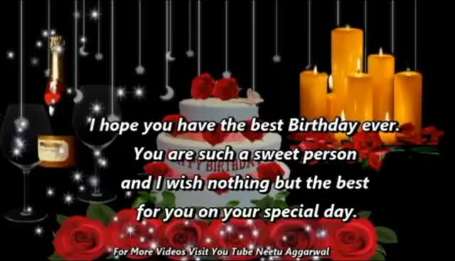 Watch Happy Birthday WishesGreetingsQuotesSmsSayingE Card