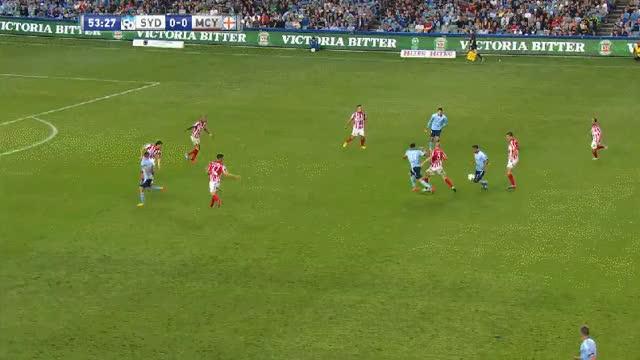 Gameiro's curving goal against Melbourne City (reddit) GIF