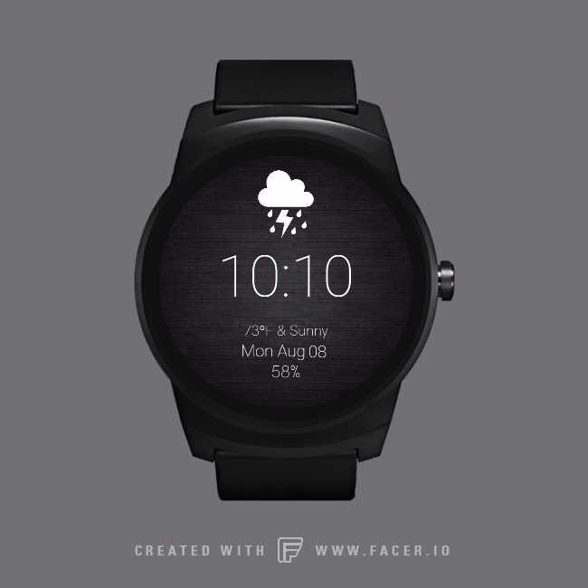 androidwear, facer, Steel&white GIFs