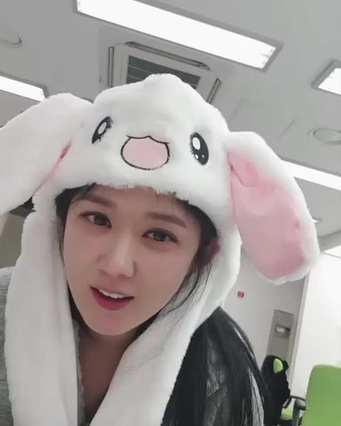 Watch and share Jang Nara Bunny Hat GIFs by 9 on Gfycat