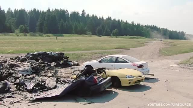 Watch and share Tank Rolls Over Car GIFs and Tank Crushing Car GIFs by doug7070 on Gfycat