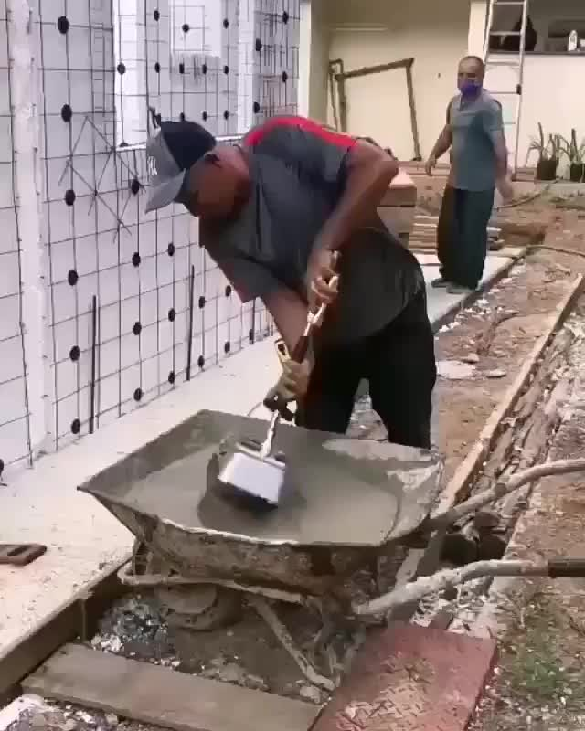 Watch and share This Man Spraying Concrete Instead Of Pouring It GIFs by The_Love-Tap on Gfycat