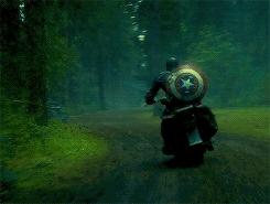 captainamericaedit, dailycaptainamerica, marvel edit, marveledit, mcuedit, Steve + motorcycles GIFs