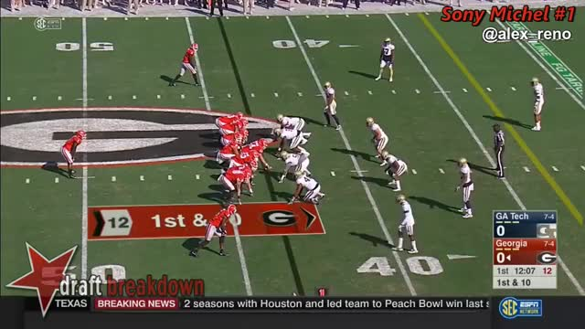Watch Sony Michel (Georgia RB) vs Georgia Tech 2016 GIF on Gfycat. Discover more related GIFs on Gfycat