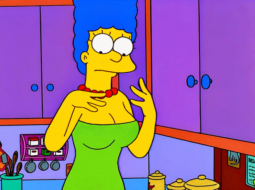 Marge, animefunny, boobs, Marge in the kitchen GIFs