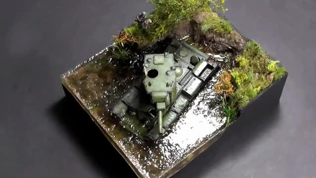 Watch KV-2 Russian Tank Abandoned in Water 1942 - Diorama 1/72 GIF by @hooshang on Gfycat. Discover more german, kit, model, russia, soviet, still water, tree, vallejo, world of tanks GIFs on Gfycat