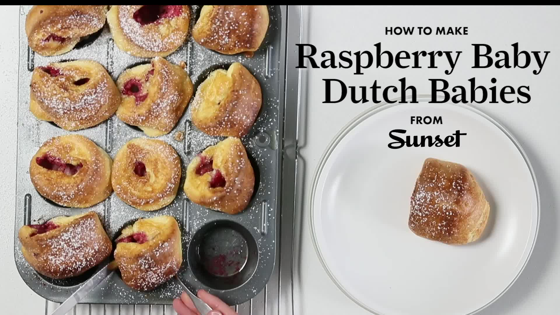 cooking, food, food recipes, recipe, recipes, How to Make Raspberry Baby Dutch Babies Sunset GIFs