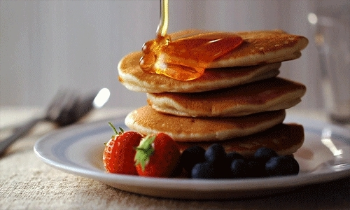 food, food gif, food gifs, fruit, pancake, pancake gif, pancakes, pancakes gif, strawberry, yummy, pancakes animated GIFs