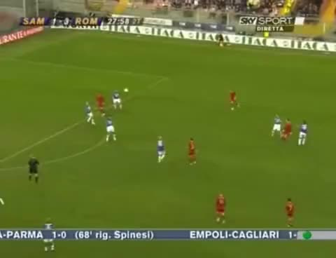 Watch gol di Francesco Totti in Sampdoria-Roma 1-4 gol da posizione quasi impossibile GIF on Gfycat. Discover more related GIFs on Gfycat