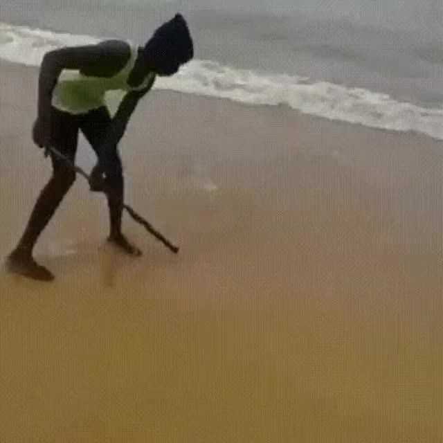 sweeping the ocean