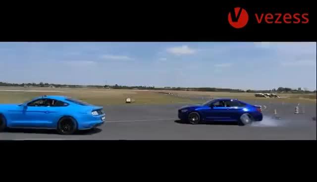 Watch and share BMW M4 Vs. Ford Mustang GT - Megnéztük Mire Mennek Egymással GIFs on Gfycat
