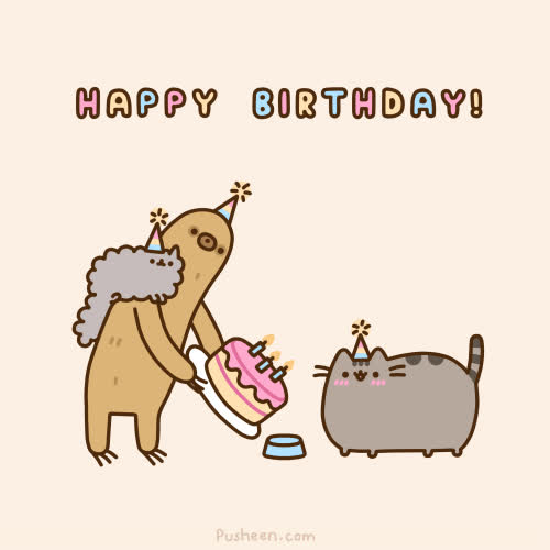 BIRTHDAY, Happy Birthday, Pusheen, birthday, cat, cats, happy birthday, pusheen, pusheen cat, pusheen the cat, reactions, [birthday] birthday happy pusheen  GIFs