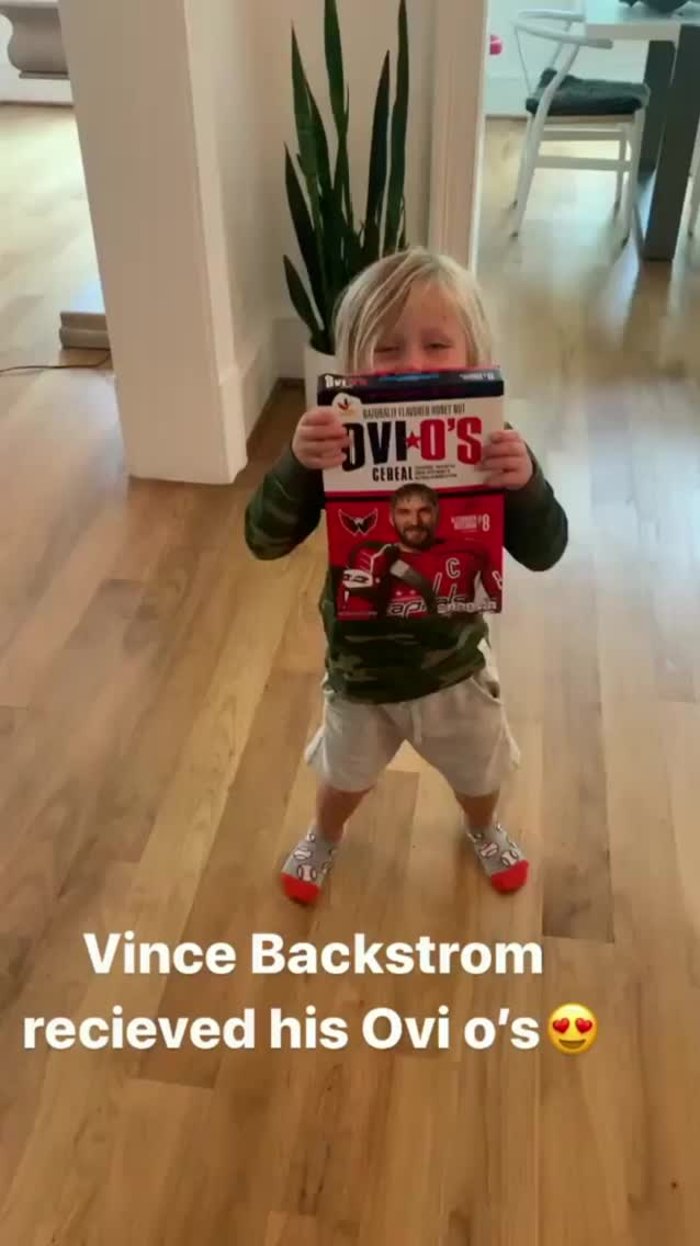 Vince Backstrom gets a box of Ovi O's, dances GIFs