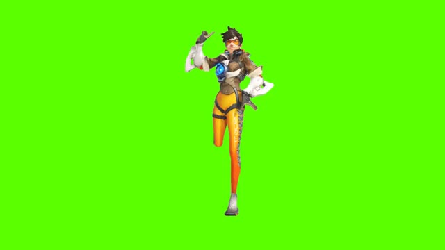 Watch and share Tracer Charleston GreenScreen Fixed Gap Between Legs GIFs by FragManSaul on Gfycat