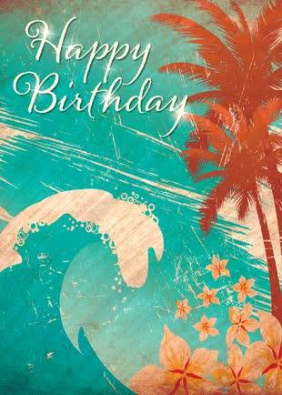 Watch and share Hawaiian Happy Birthday Greeting Card GIFs on Gfycat