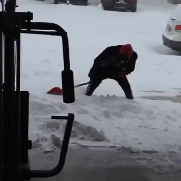 Watch and share Ridiculous Slip While Shoveling Snow GIFs on Gfycat