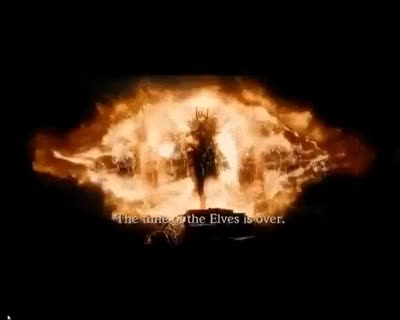 Watch and share Lady Galadriel Vs Sauron In Dol Guldur !!! HD ! New ! GIFs on Gfycat