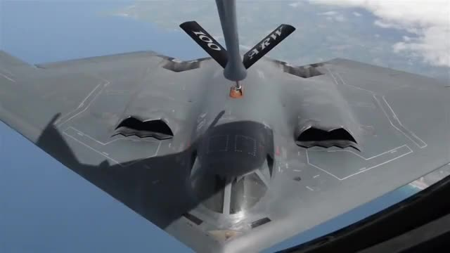 Watch and share B2 Connects For Aerial Refueling Over Europe  GIFs by Movie & Military GFYS  on Gfycat