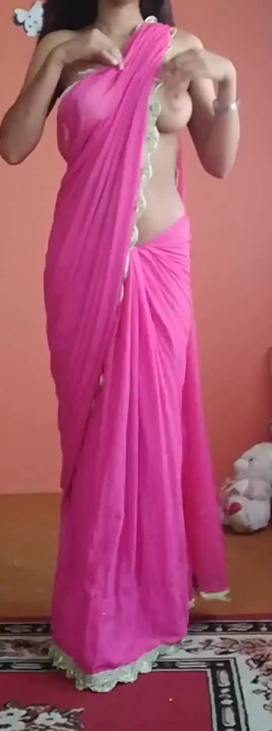 since many of u requested me to post the sari unwarping clip , here it is