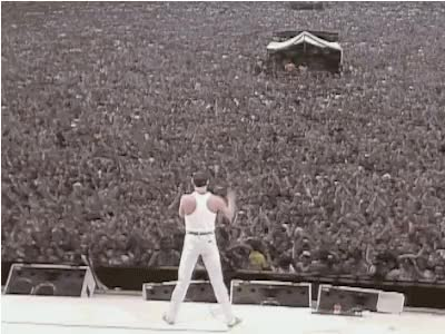 Watch this queen GIF on Gfycat. Discover more 1980s, 1985, 80s, 80s gif, 80s mtv, freddy mercury, gif, live aid, queen GIFs on Gfycat