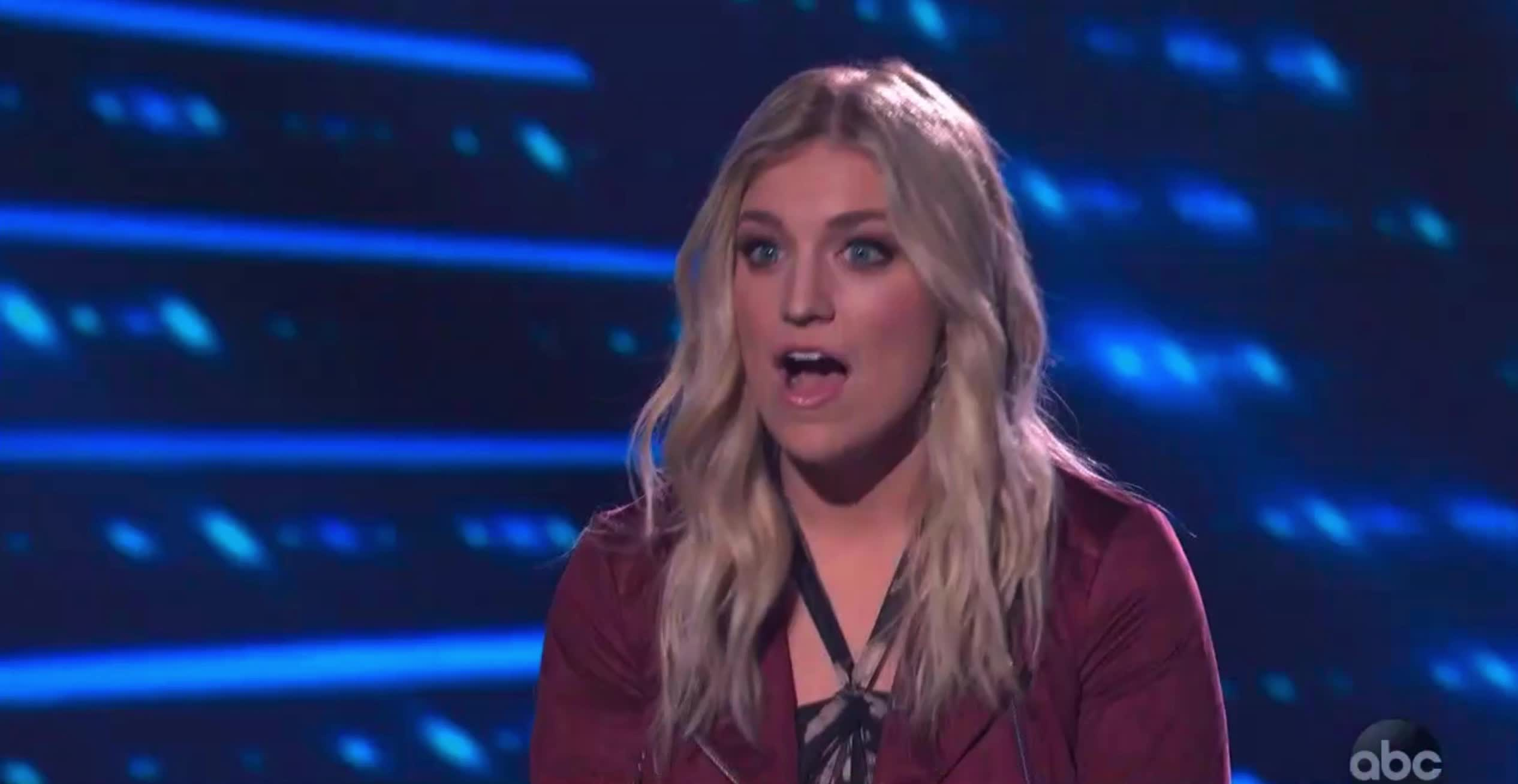 american idol, american idol season 17, americanidol, ashley hess, katy perry, lionel richie, luke bryan, ryan seacrest, season 17, shocked, whoa, woah, wow, American Idol Ashley Wow Shocked GIFs