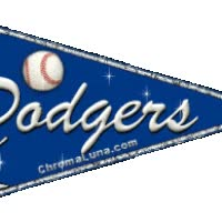 Watch and share Los Angeles Dodgers Pennant Glitter Sparkle Flag Animated Gif animated stickers on Gfycat