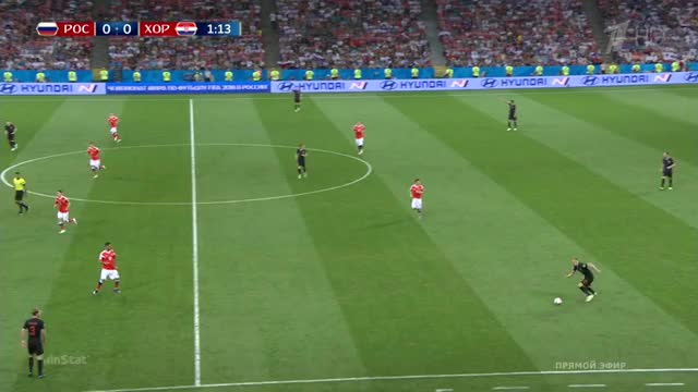 Watch and share 07.07.2018 - Russia 2 2 Croatia - Roman Zobnin Pass Interceptions GIFs on Gfycat