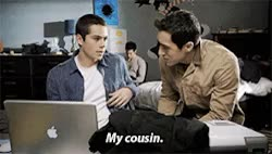 Watch Live and Happy GIF on Gfycat. Discover more I love cousin miguel, cousin miguel, cousin miguel is back, danny mahealani, derek hale, dylan o'brien, funny, funny scene, ian nelson, keahu kahuanui, looool, matthew del negro, miguel, mr mccall, my cousin, parallels, rafael mccall, so funny, stiles stilinski, teen wolf, tyler hoechlin, what's your name?, who is he again?, young derek hale GIFs on Gfycat