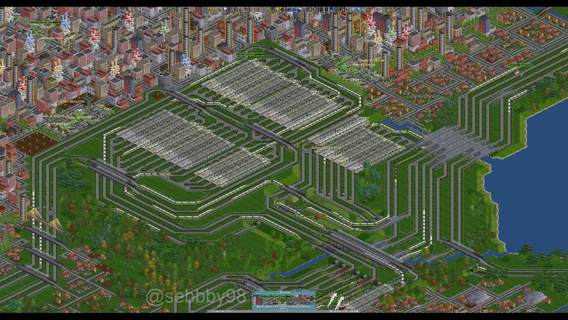 OpenTTD - Hilltop Station GIFs