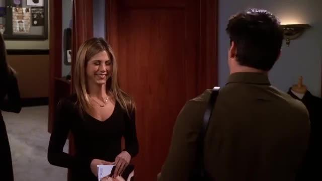 """Watch Friends - Joey's Bag - """"Unisex"""" GIF on Gfycat. Discover more Drama, Friends, Friendship, Love, bag, celebs, comedy, english, fhd, hd, jennifer aniston, joey, men, rachel, unisex, watch, women GIFs on Gfycat"""