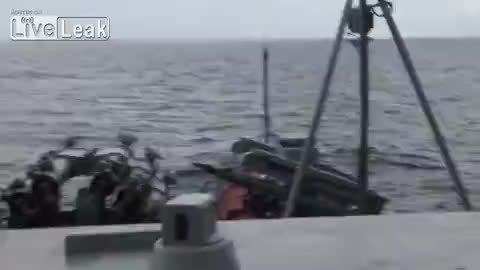 MissileGfys, MissilesAndRockets, missilegfys, SAM misfire on Ukrainian navy ship. (reddit) GIFs