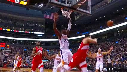 Watch and share Danny Green And Serge Ibaka — Toronto Raptors GIFs by Off-Hand on Gfycat