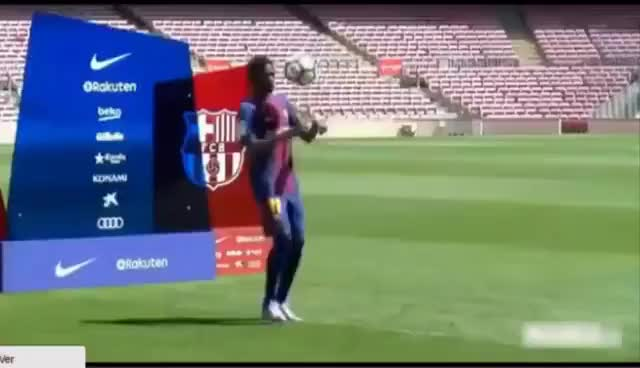 Watch and share El Fail De Dembélé En La Presentación Con El Barça GIFs on Gfycat
