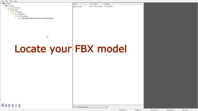 Noesis: Convert FBX to DAE