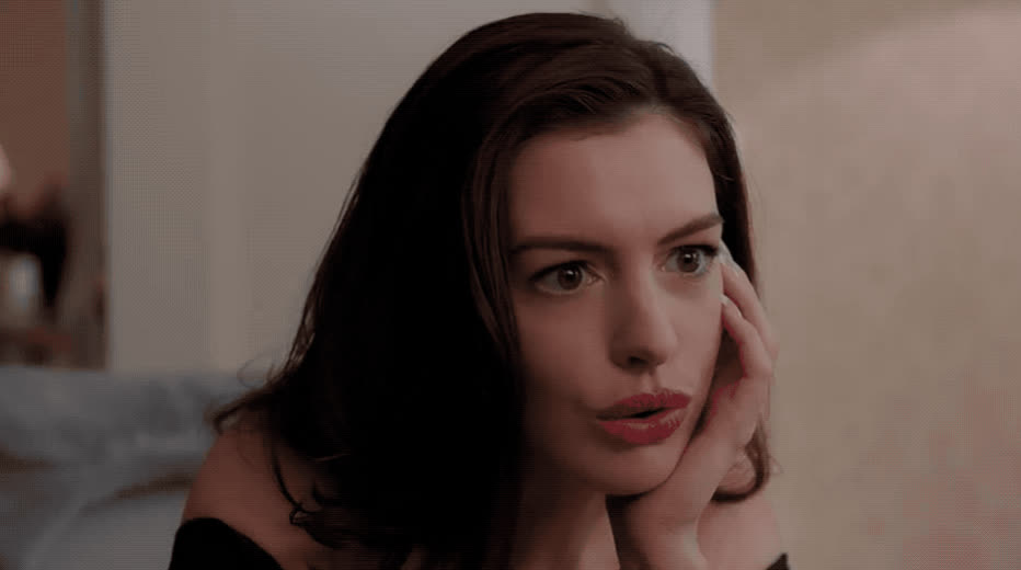8, anne, anne hathaway, confused, don't, eight, hathaway, mad, negative, never, no, no way, not, ocean's, say, surprised, think, thinking, what, Anne Hathaway - No GIFs