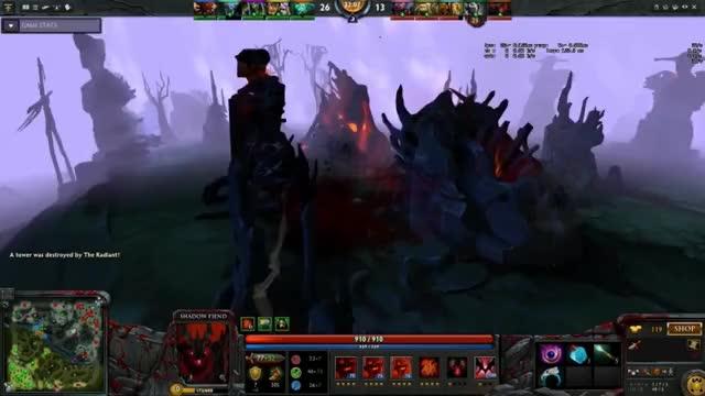 Dota2] Best shadow fiend ultimate ever [Fail] (reddit) GIF by