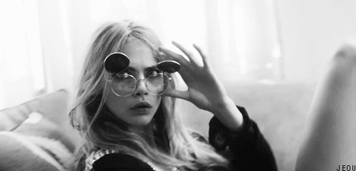 OMG, Victoria's Secret, black and white, boring, cara, cara delevinge, coco chanel, cute, fashion, gif, love, lovely, model, only love, ootd, pretty, sunglasess, teen, teen wolf, tumblr, vintage, #celebgfys GIFs
