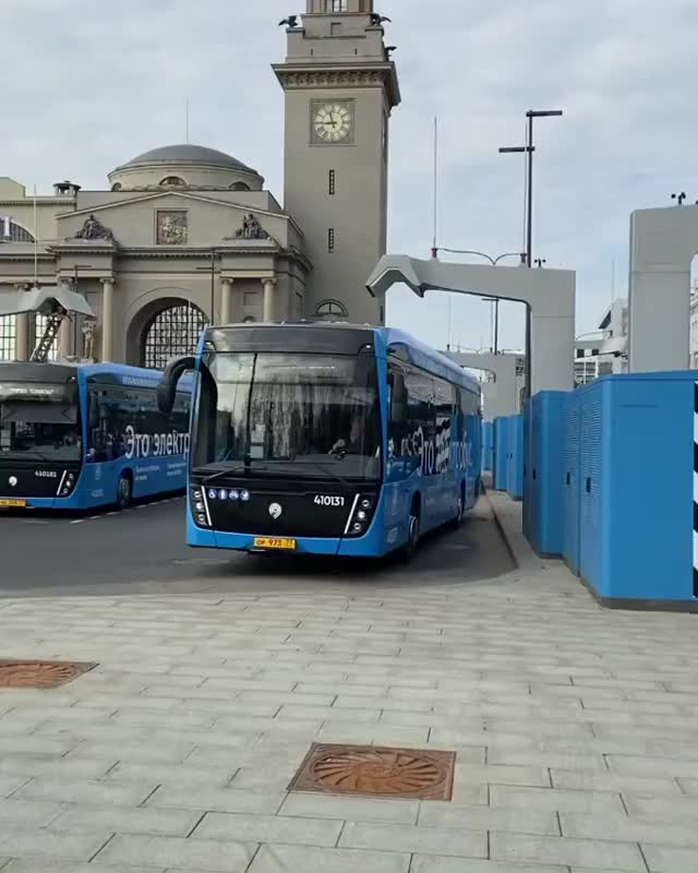 Watch and share Electric Bus Charging Station Moscow GIFs by bsurfn2day on Gfycat
