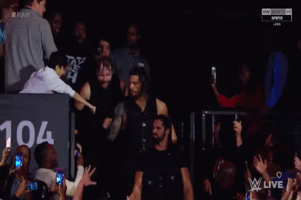 Watch and share Fan Behind Dean Ambrose GIFs by Matthew Pack on Gfycat