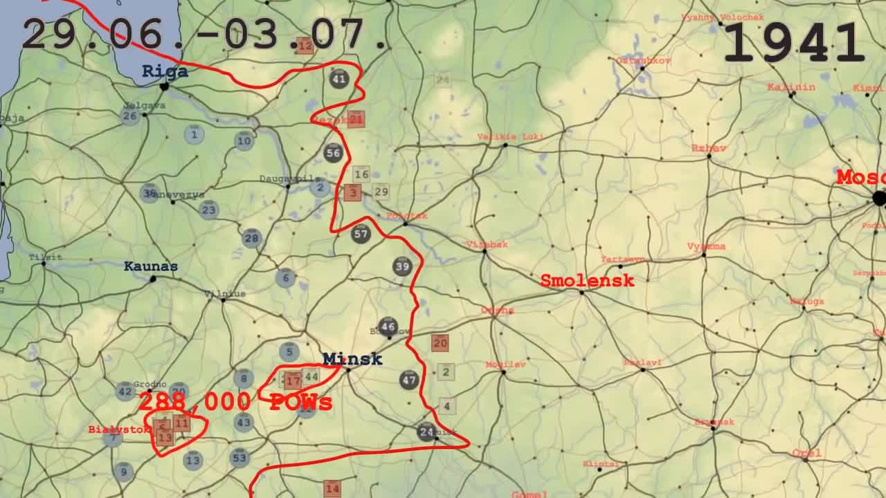 Eastern Front animated: 1941