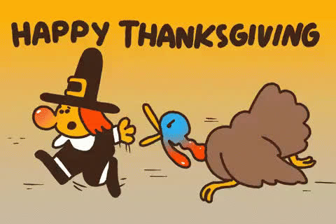 dinner, eat, happy, meal, people, run, thanksgiving, turkey, Happy thanksgiving! GIFs