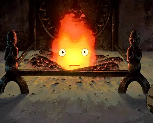Watch and share Calcifer GIFs and Fire GIFs on Gfycat