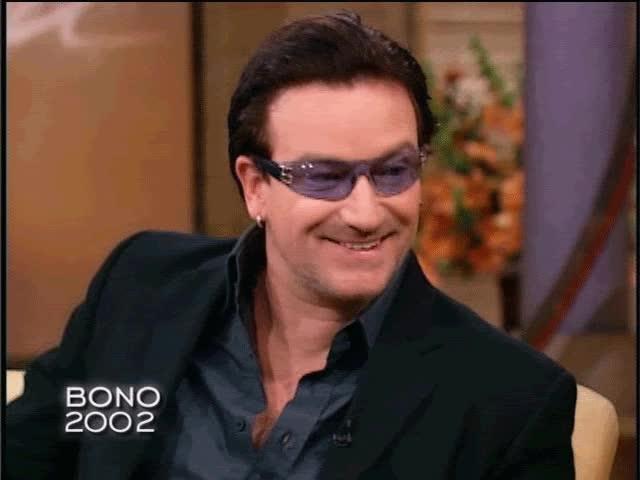 Watch and share Bono GIFs on Gfycat