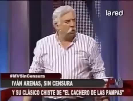 Watch and share Ivan Arenas Chiste El Cachero De Las Pampas GIFs on Gfycat